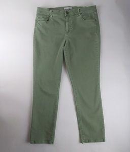 Loft Ann Taylor green jean size 31/12